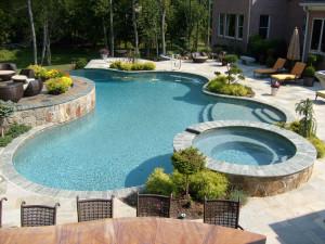Blue Fountain Pools Freeform Pools